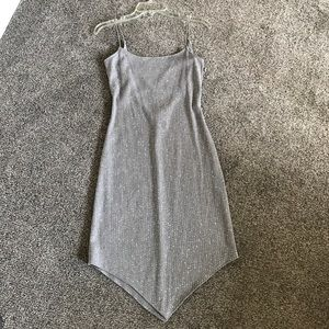 City Triangles Silver Cocktail dress - Open Back!